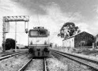 La stazione ferroviaria con una locomotiva gruppo 646 in primo piano  - Sferro (4869 clic)