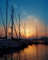 Tramonto nel porto di Siracusa  - Siracusa (3642 clic)