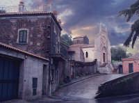 Piccolo centro sulla strada che va da Acireale a S.M.La Scala in un giorno di pioggia  - Acireale (4073 clic)