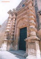 Chiesa dell 'Annunziata , patrimonio dell'Unesco , colonne barocche  - Palazzolo acreide (4566 clic)