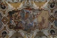 Santa Maria Maggiore   IL TRIONFO DEL SACRAMENTO affresco di Olivio Sozzi  - Ispica (5669 clic)