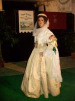 abito albanese di mezza festa della donna sposata di Palazzo Adriano indossato da Francesca Barbata  - Palazzo adriano (3382 clic)