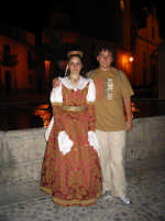 costume arbereshe di mezza festa di palazzo adriano indossato da Simona Concialdi   - Palazzo adriano (3451 clic)