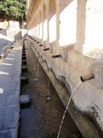 La Grande Fonte    Monumentale abbeveratoio fatto realizzare dal Principe Nicolò Branciforti sui ruderi di un antica fontana tra il 1649 il 1652. Dalla gente del posto è conosciuto con il nome di vintiquattru cannola per via delle 24 cannelle bronzee che riversavano la loro acqua nella vasca sottostante e che, secondo un cronista del Settecento, fu ispirato ad una fontana di Amsterdam.   - Leonforte (882 clic)