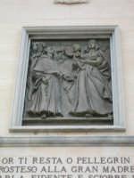 Particolare Santuario  Particolare in bronzo del Santuario Madonna della Milicia  - Altavilla milicia (2022 clic)