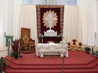 Altare Cattedrale Cattedrale - Altare Maggiore con l'esposizione del corpo di San Corrado patrono della citta'    - Noto (3646 clic)