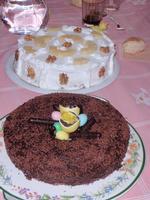 Belle torte pasquali di Francesca Calì  Pasqua 2012 - Torta al cioccolato e torta neve con noci   - Enna (5223 clic)
