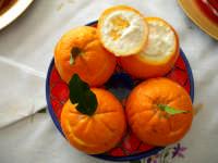Dolce Siciliano  Arance ripiene con crema di mandorle  - Enna (5438 clic)
