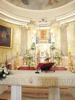 Interno Santuario Madonna della MIlicia  Altare e Quadro   - Altavilla milicia (1361 clic)