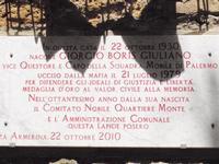 Casa dove nacque il Questore Boris Giuliano   Il Questore Boris Giuliano fu ucciso dalla mafia nel 1979   - Piazza armerina (1553 clic)