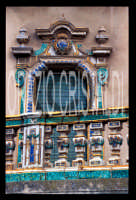 balcone maiolicato  - Caltagirone (1962 clic)