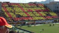Stadio Sanfilippo Coreografia in curva SUD del 29-03-2005 dopo vittoria in trasferta a Reggio Calabria Reggina-Messina 0-2  - Messina (9255 clic)