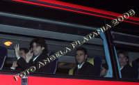 L'arrivo della Juventus a Catania- da destra Zdenek Grygera Difensore, poi Marchionni (centrocampista) e  Tiago (centrocampista)- Photo Angela Platania  - Catania (2051 clic)