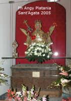 Festa di Sant'Agata 2005 - Chiesa Sant'Agata la Vetere. Uno dei primi scrigni che contenenva le reliquie della Santa e un antico busto  - Catania (2828 clic)