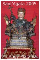 Festa di Sant'Agata - l'ottava 12 febbraio 2005 - Il busto di Sant'Agata sull'altare  - Catania (2864 clic)
