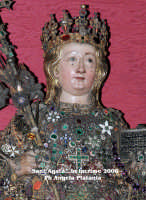 Il busto Reliquiario di Sant'Agata...in lacrime!!! Immagine elaborata con filtri  - Catania (6130 clic)