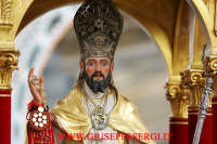 particolare della statua di san mauro abate  - Viagrande (7395 clic)