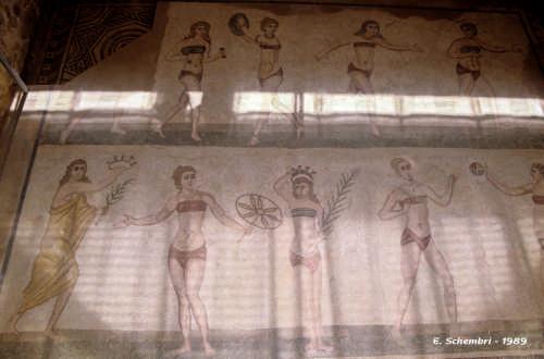 Mosaici di Villa del Casale - Le ginnaste in