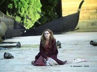 Teatro Greco di Siracusa - Elisabetta Pozzi interpreta Tecmessa, nell'Aiace di Sofocle - Ciclo di rappresentazioni classiche 2010.  - Siracusa (4040 clic)