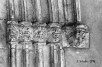 Chiesa Madre, particolare del fregio del portale gotico. Chiesa Madre, particolare del fregio del portale gotico.  - Petralia soprana (8622 clic)