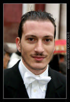 Caltanissetta. MErcoledi' Santo 2007. Real Maestranza 2007. Sig. Gianluca Taibi in processione. Alt