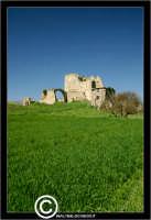 Resuttano. Castello di Resuttano. I suoi resti si possono osservare nella piana in cui il fiume Imera si distende dopo la sua discesa dai vicini colli madoniti. Dista dall'abitato di Resuttano circa 4 Km. - Reportage sui Castelli della Provincia di Caltanissetta -  - Resuttano (3884 clic)