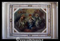 Troina: Oratorio del Rosario ( XVIII/XIX sec. ): Particolare di pittura raffigurante L'Assunzione al cielo della Beata Vergine Maria.   - Troina (1664 clic)
