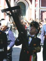 Capitano della Real Maestranza 2004 a Caltanissetta. Sig. Sebastiano Garzia. Mercoledì Santo 2004.  - Caltanissetta (4434 clic)