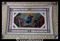 Troina: Oratorio del Rosario ( XVIII/XIX sec. ): Particolare di pittura raffigurante L'Assunzione al cielo del Cristo.   - Troina (1612 clic)