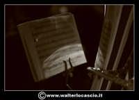 Pietraperzia. Venerdi' Santo 21-03-2008. U Signuri di li fasci.  Spartito musicale. Foto Walter Lo Cascio www.walterlocascio.it   - Pietraperzia (1831 clic)