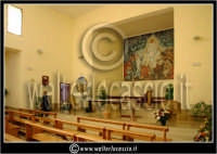 Caltanissetta: Villaggio Santa Barbara. Chiesa di Santa Barbara. Interno. CALTANISSETTA Walter Lo Ca