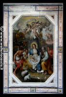 Troina: Oratorio del Rosario ( XVIII/XIX sec ): Particolare di pittura raffigurante la    Nativita' di Gesù.   - Troina (1806 clic)