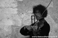 Violinista ambulante a Taormina.  - Taormina (4421 clic)