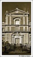 Caltanissetta. Chiesa San'Agata al Collegio in Corso Umberto I. Vista Frontale seppiata. #1  - Caltanissetta (2914 clic)