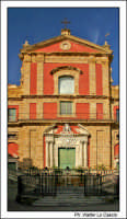 Caltanissetta. Chiesa San'Agata al Collegio in Corso Umberto I. Vista Frontale color print. #2  - Caltanissetta (2740 clic)