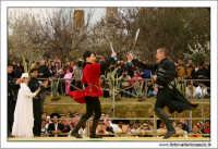 Agrigento. Festa del Mandorlo in fiore. Edizione 2006. Gruppi folkloristici si esibiscono durante la premiazione.   - Agrigento (1427 clic)