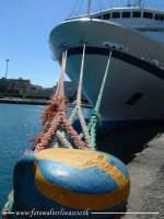 Tensione. Porto di Palermo. 4 funi, ingrado di ancorare una grossa nave.  - Palermo (3120 clic)