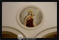 Caltanissetta. Chiesa di San Domenico. Particolare. dipinto su navata centrale. #2  - Caltanissetta (2672 clic)