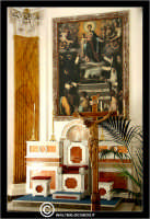Caltanissetta. Chiesa di San Domenico. Altare. Particolare del crocifisso.  - Caltanissetta (2691 clic)