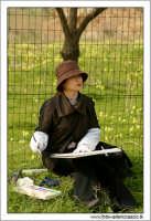 Agrigento. Donna giapponesi, dipinge il tempio della concordia.  - Agrigento (3162 clic)