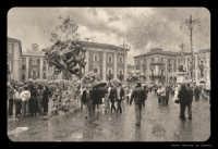 Catania. Piazza Duomo.... Foto invecchiata stile anni 30.  - Catania (4917 clic)
