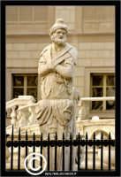 Palermo. La fontana Pretoria in Piazza Pretoria o Piazza della Vergogna. Particolare di una statua.