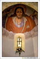 Caltanissetta, Chiesa di Santo Spirito. Interno. Il Cristo. Affresco sull'Abside. CALTANISSETTA Walt