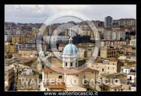 Caltanissetta. Foto aeree del centro storico di Caltanissetta. Cupola della Cattedrale Santa Maria la Nova in piazza Garibaldi. Photo Walter Lo Cascio www.walterlocascio.it  - Caltanissetta (6991 clic)