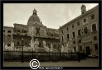 Palermo. Piazza Pretoria o Piazza della Vergogna. Seppiata. PALERMO Walter Lo Cascio