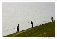 Regalbuto, Settembre 2005. Lago Pozzillo. Pescatori.  - Regalbuto (1936 clic)