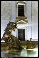 Caltanissetta. Piazza Garibaldi dopo i lavori di rifacimento della pavimentazione.Particolare della Fontana del Tritone. Photo Walter Lo Cascio www.walterlocascio.it  - Caltanissetta (4595 clic)