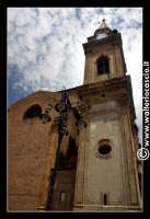 Regalbuto: Chiesa di San Basilio in Piazza Della Repubblica. Particolare del campanile.  - Regalbuto (1877 clic)