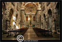 Palermo. Chiesa di Santa Caterina. Interno. Natava centrale.  - Palermo (8230 clic)