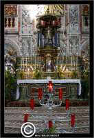 Palermo. Chiesa di Santa Caterina. Interno. Natava centrale. Altare. PALERMO Walter Lo Cascio